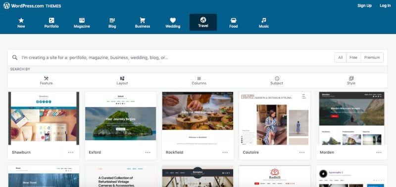 Gratis WordPress website