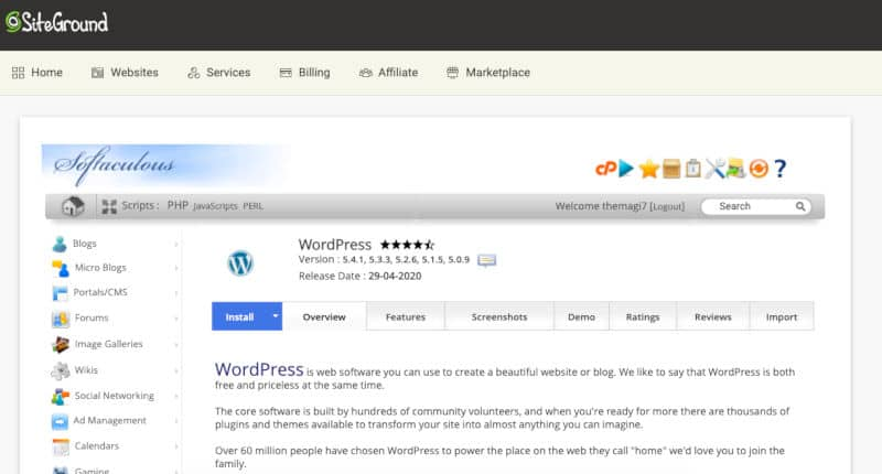 WordPress installeren - je eigen blog maken