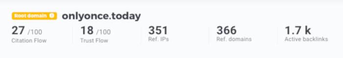 LinkMiner: backlink profiel overzicht