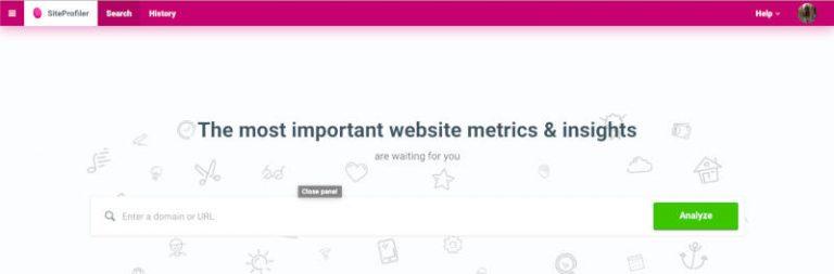 Site Profiler SEO toolbox