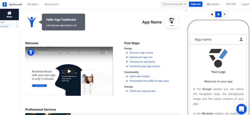App maken met AppYourself