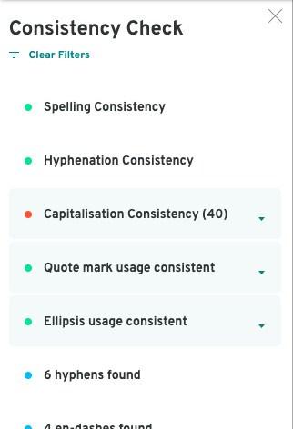 Consistentie - Pro Writing Aid