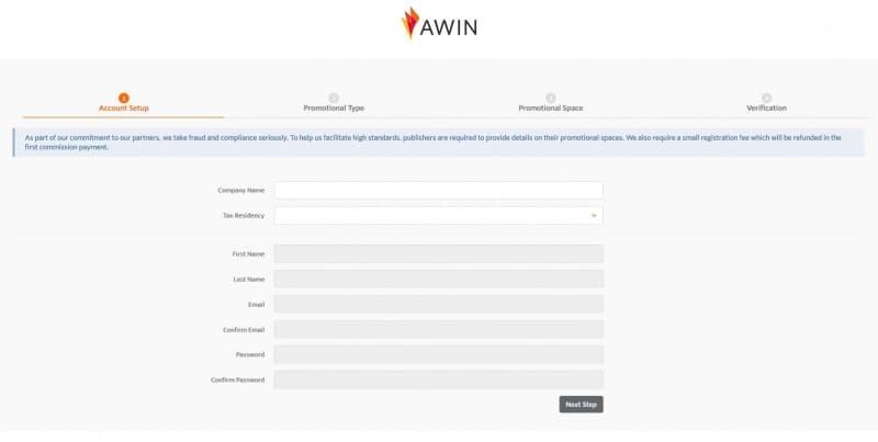 Jezelf aanmelden bij AWIN