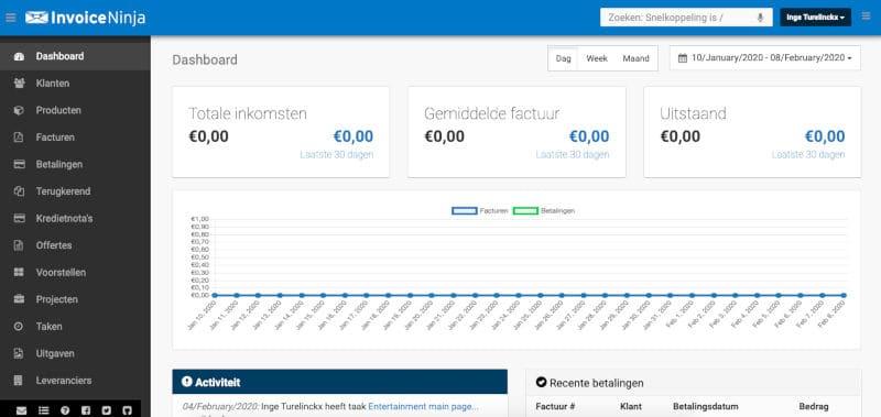 InvoiceNinja screenshot